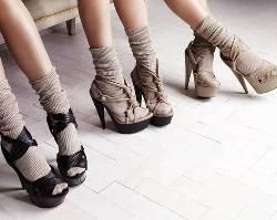 Socken in Sandalen/Sandaletten