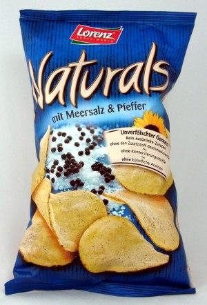 Naturals mit Meersalz und Pfeffer