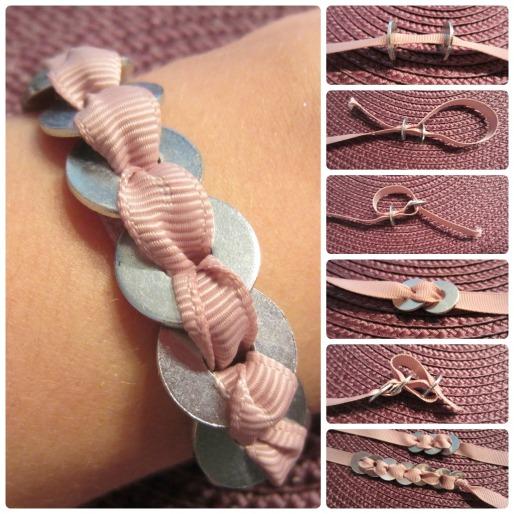 DIY bracelet washers tutorial anleitung armband